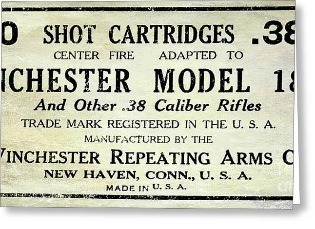 Vintage Ammunition Sign Greeting Card by Jon Neidert