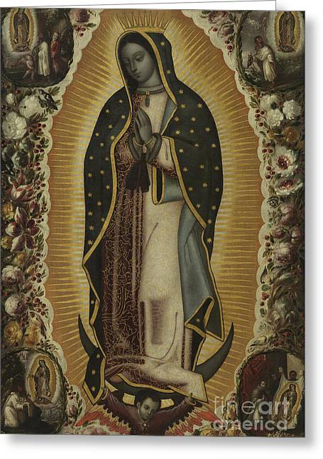 Virgin Of Guadalupe Greeting Card by Manuel de Arellano