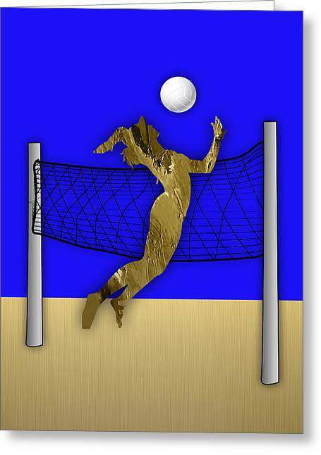 Vollyball Collection Greeting Card by Marvin Blaine