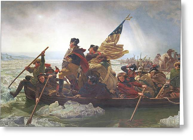 Washington Crossing The Delaware Greeting Card