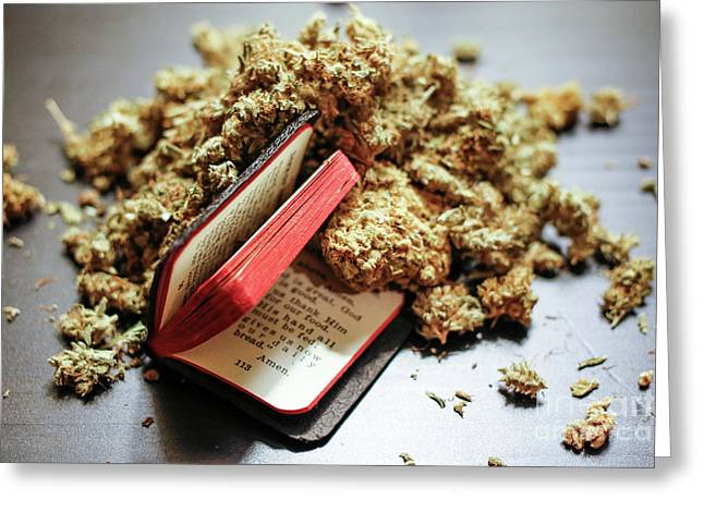 Weed Is My Religion Greeting Card by M Croz