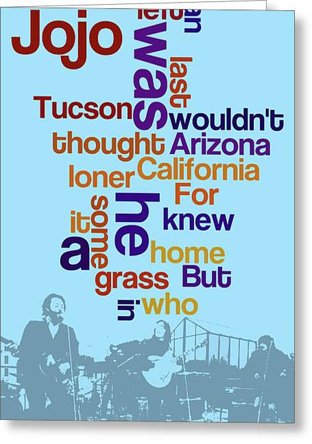 What Is The Name Of The Song? Funny Poster And Game For Music Lovers Greeting Card by Pablo Franchi