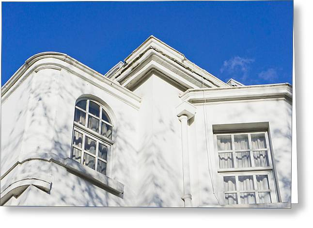 White Building Greeting Card