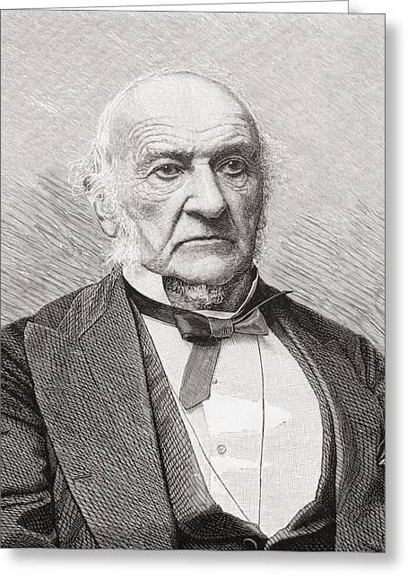 William Ewart Gladstone, 1809 To 1898 Greeting Card by Vintage Design Pics
