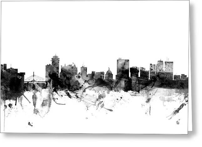 Winnipeg Canada Skyline Greeting Card by Michael Tompsett