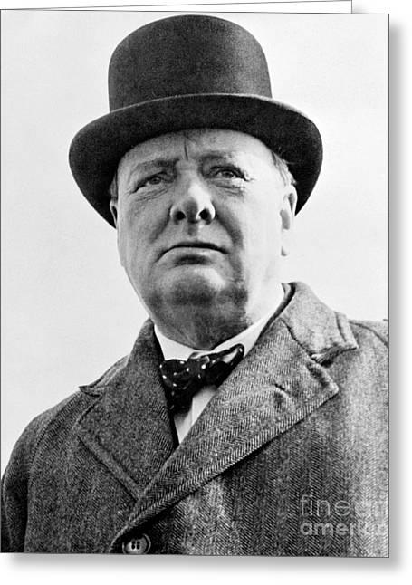 Winston Churchill Greeting Card by English School