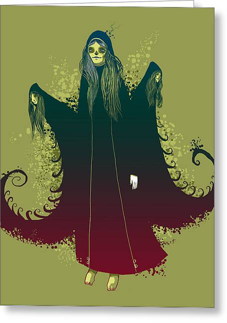 Witch Greeting Cards - 3 Witches Greeting Card by Michael Myers