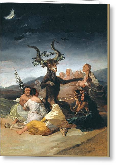 Witches Sabbath Greeting Card