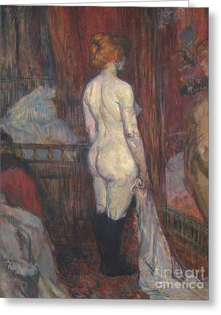 Woman Before A Mirror Greeting Card