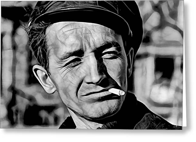 Woody Guthrie Collection Greeting Card by Marvin Blaine