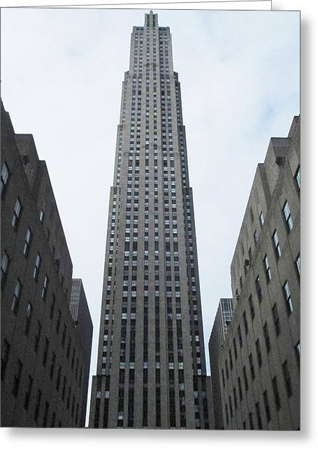 Greeting Card featuring the photograph 30 Rockefeller Center by Christopher Kirby