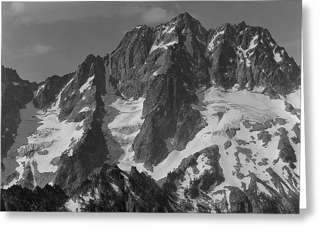 304630 Bw North Face Mt. Stuart Greeting Card