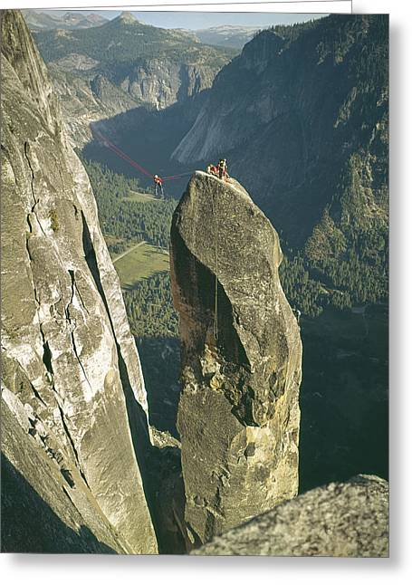 306540 Climbers On Lost Arrow 1967 Greeting Card