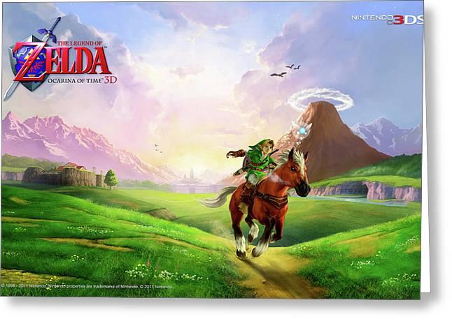 30780 Zelda Ocarina Of Time 3d  Greeting Card