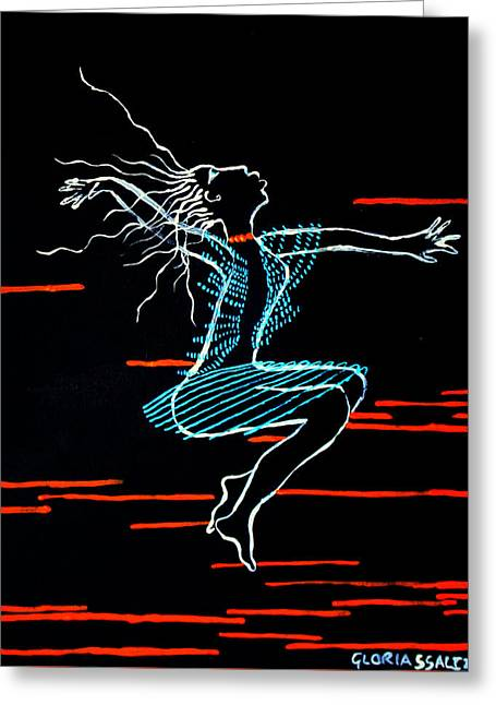 Dinka Dance - South Sudan Greeting Card by Gloria Ssali