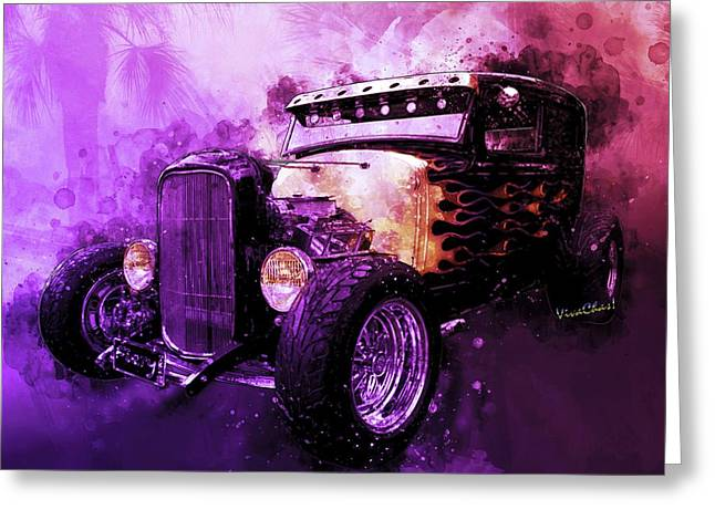 31 Ford Model A Fiery Hot Rod Classic Greeting Card