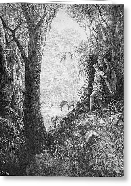 Recently Sold -  - Engraving Greeting Cards - Milton: Paradise Lost Greeting Card by Granger