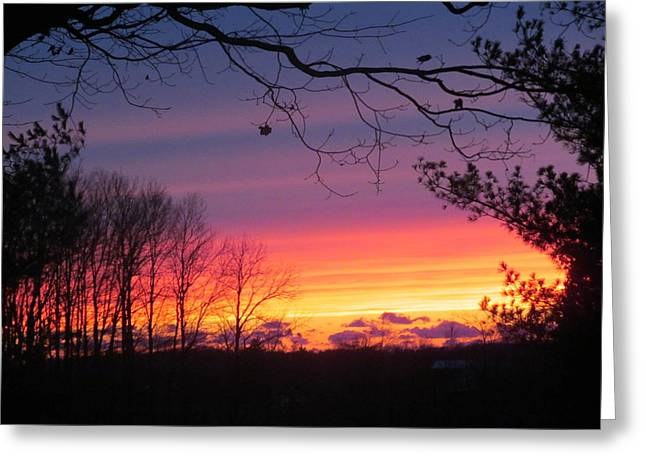 31 Oct 2012 Sunset Two Greeting Card by Tina M Wenger