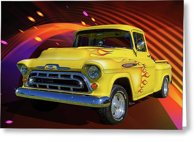 3100 Chevy Greeting Card by Keith Hawley