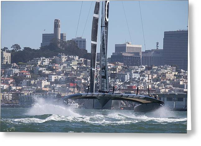 America's Cup Oracle Greeting Card by Steven Lapkin