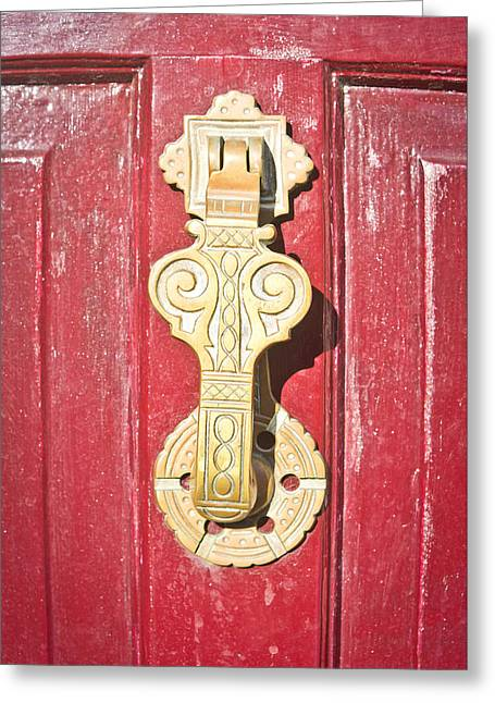 Door Knocker  Greeting Card