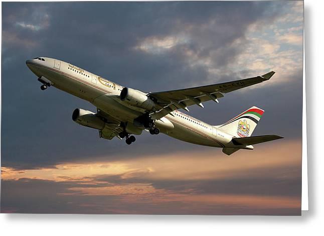 Etihad Airways Airbus A330-243 Greeting Card