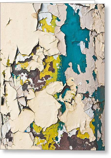 Peeling Paint Greeting Card by Tom Gowanlock