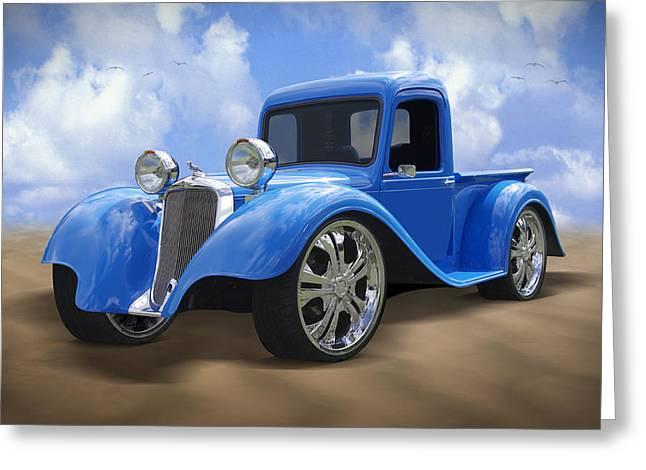 Dodge Digital Art Greeting Cards - 34 Dodge Pickup Greeting Card by Mike McGlothlen