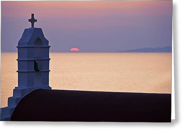 Aegean Sea Greeting Cards - Mykonos Greeting Card by Joana Kruse