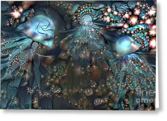 Abstract Jellyfish Greeting Card
