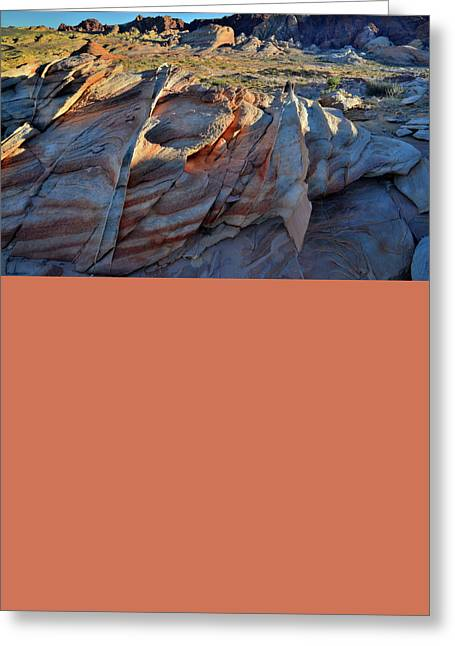 Greeting Card featuring the photograph Colorful Sandstone In Valley Of Fire by Ray Mathis