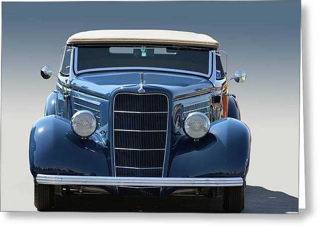 35 Ford C V Coupe Greeting Card by Bill Dutting