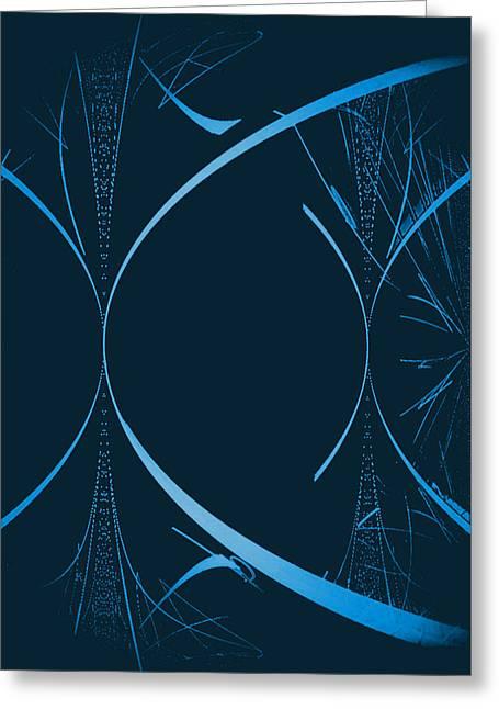 35 In Blue Greeting Card by John Krakora