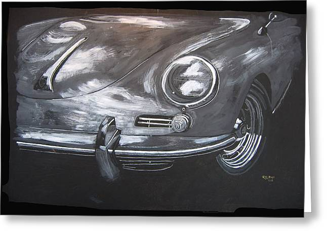356 Porsche Front Greeting Card