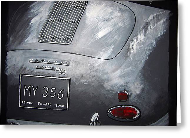 356 Porsche Rear Greeting Card