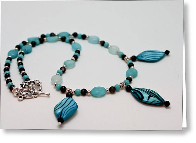 3564 Shell And Semi Precious Stone Necklace Greeting Card by Teresa Mucha