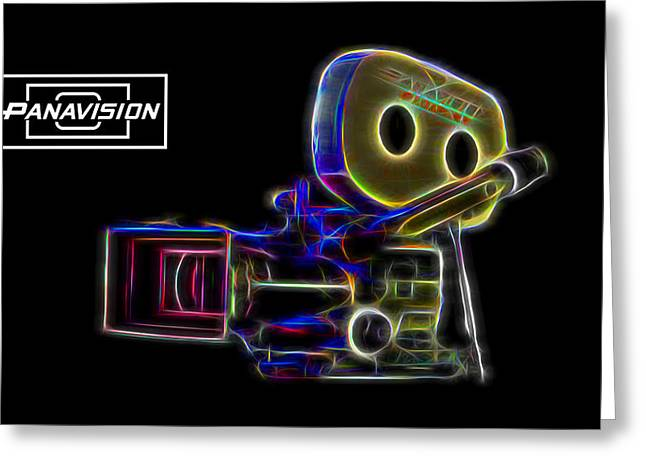 Greeting Card featuring the digital art 35mm Panavision by Aaron Berg