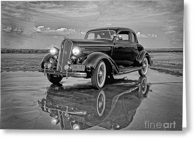 36 Plymouth Reflections Pencil Sketch Greeting Card