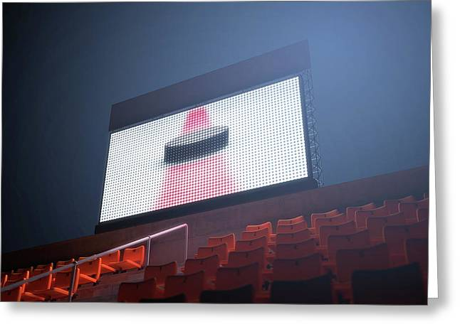 Sports Stadium Scoreboard Greeting Card