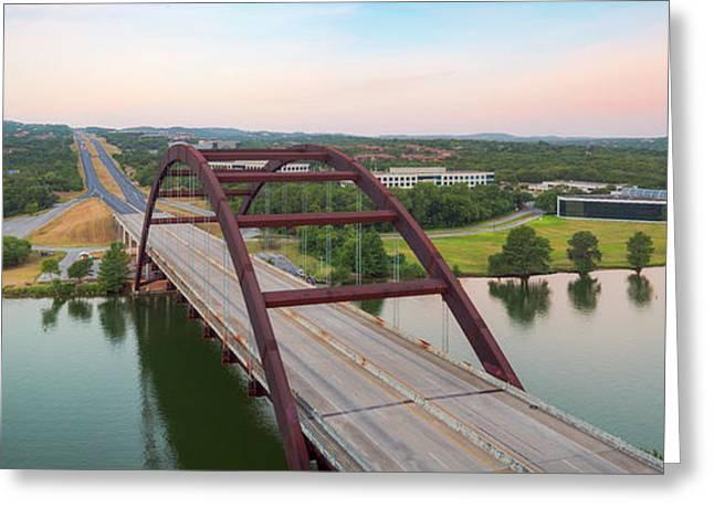 360 Bridge Panorama Summer Morning 1 Greeting Card