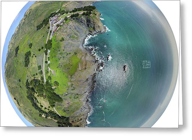 360 Degree Landscape Of Ragged Point Greeting Card