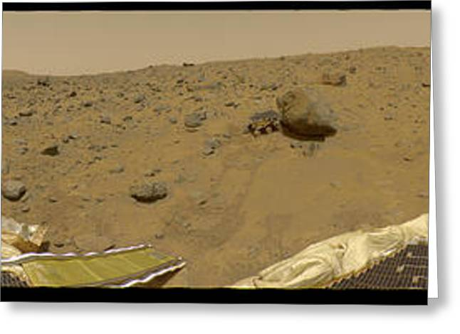 360 Degree Panorama Mars Pathfinder Landing Site Greeting Card