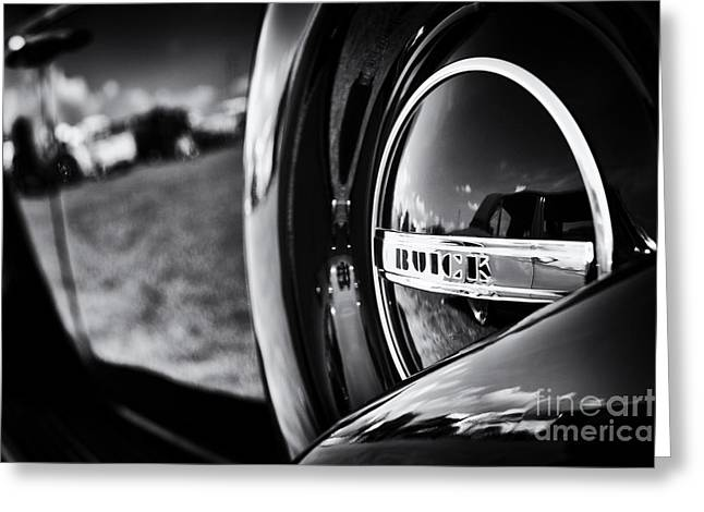 37 Buick 8 Monochrome Greeting Card by Tim Gainey