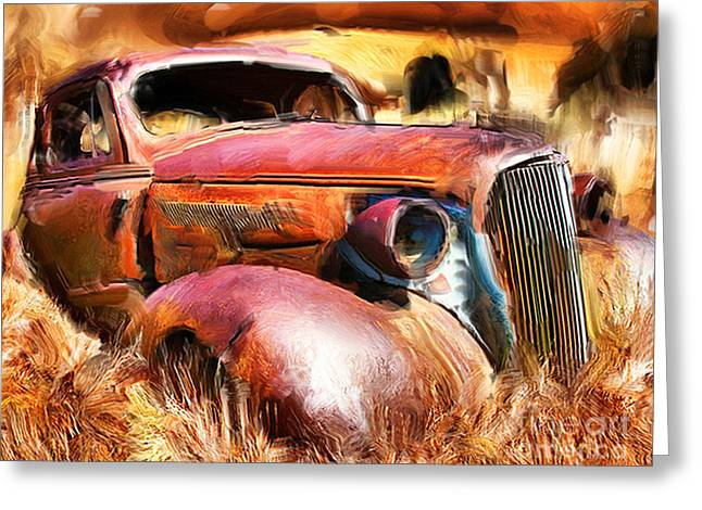 37 Chevy Greeting Card by Tom Griffithe