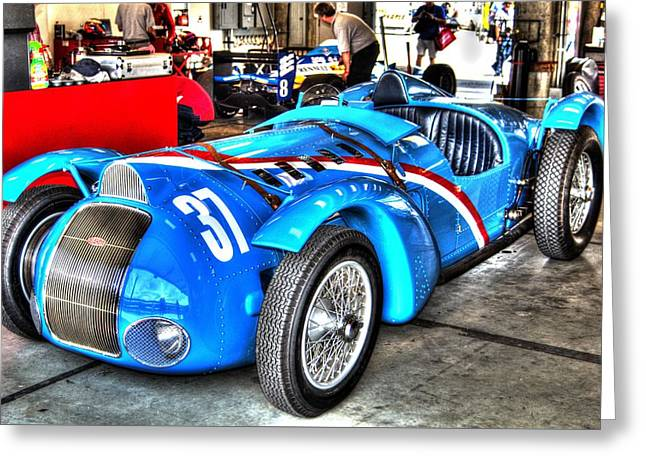 Delahaye Fast From The Front Greeting Card