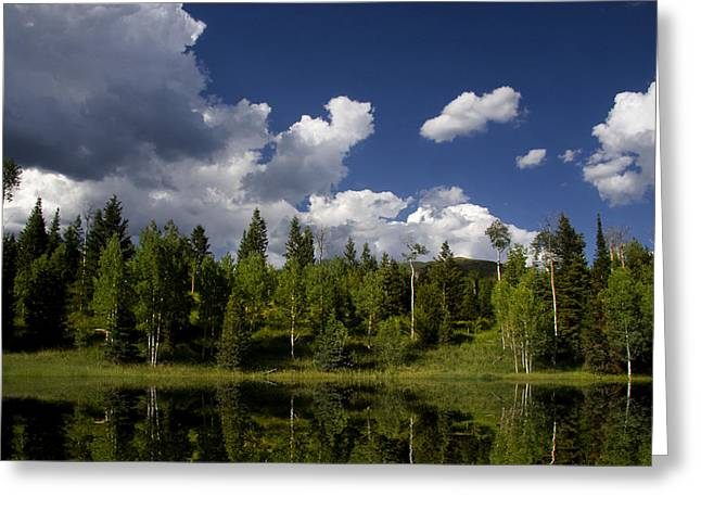 Moist Greeting Cards - Mountain  Lake Greeting Card by Mark Smith