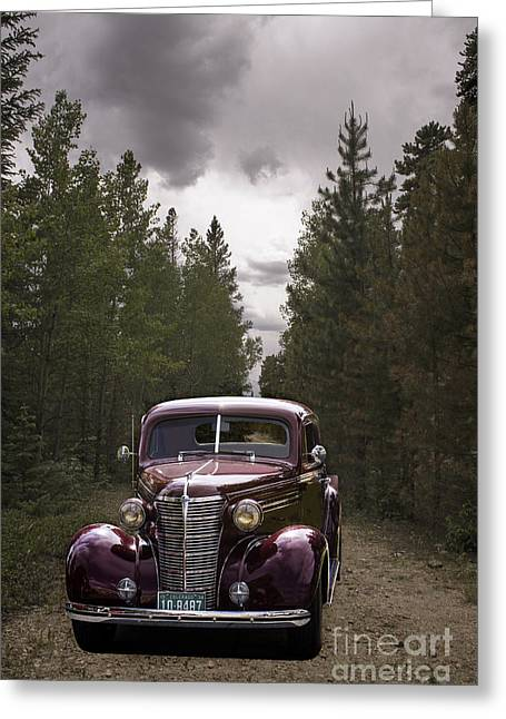 38 Chev Greeting Card by Steven Parker