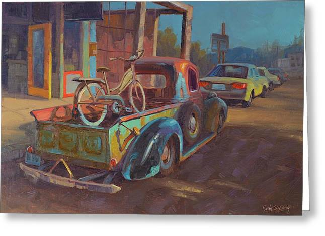 38' Ford In Jerome, Az Greeting Card