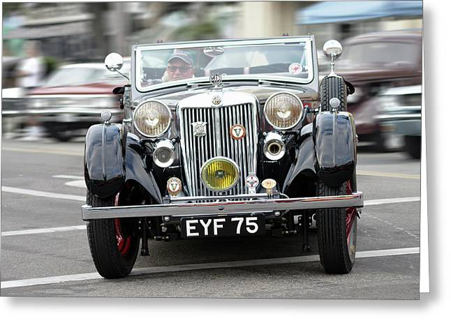 Greeting Card featuring the photograph 38 M G  V A Tickford by Bill Dutting