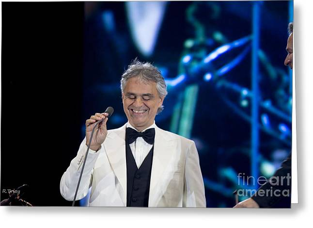 Andrea Bocelli In Concert Greeting Card by Rene Triay Photography